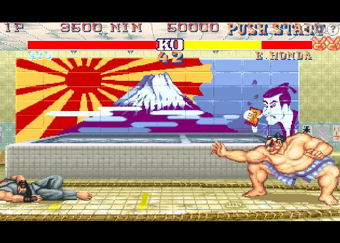 Онлайн флеш игра Street Fighter 2