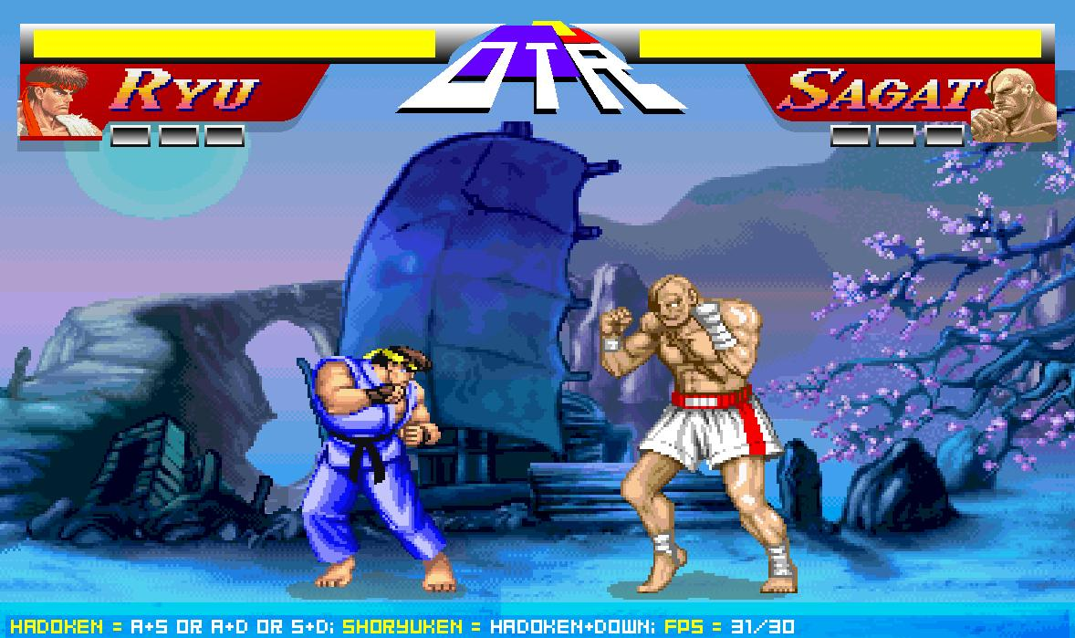 Онлайн флеш игра Street Fighter 2 Ryu VS Sagat