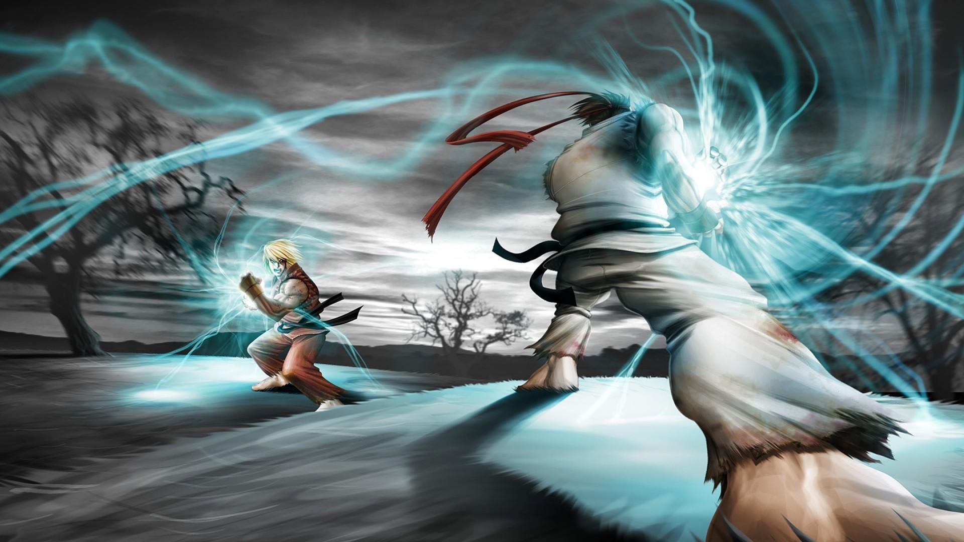 Обои Street Fighter магия