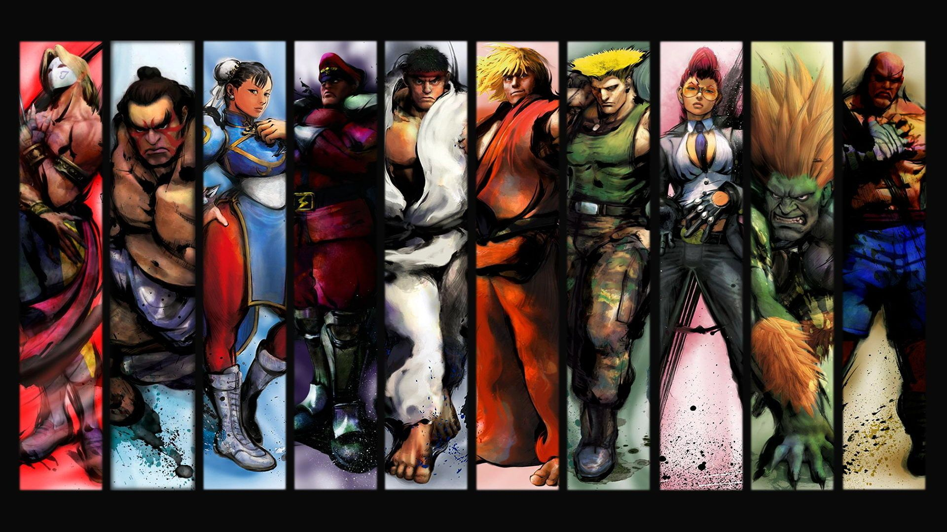 Обои Street Fighter бойцы