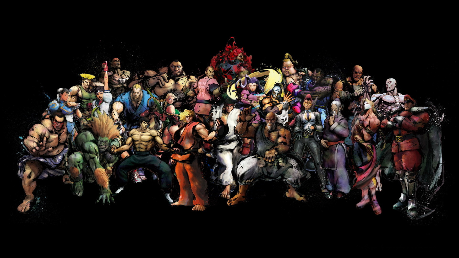Обои Street Fighter все бойцы