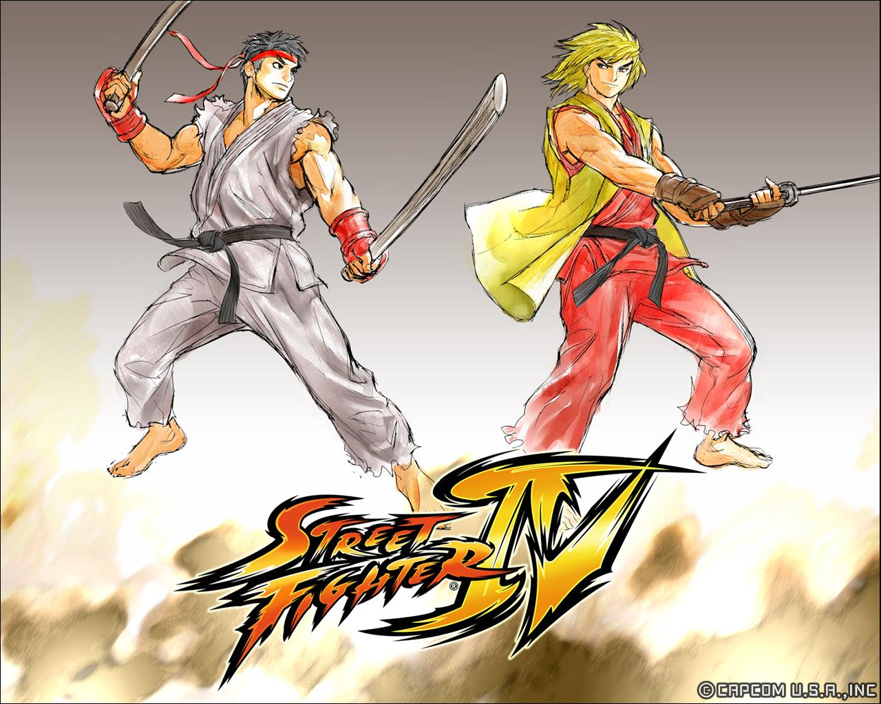 Обои Street Fighter 4 На мечах