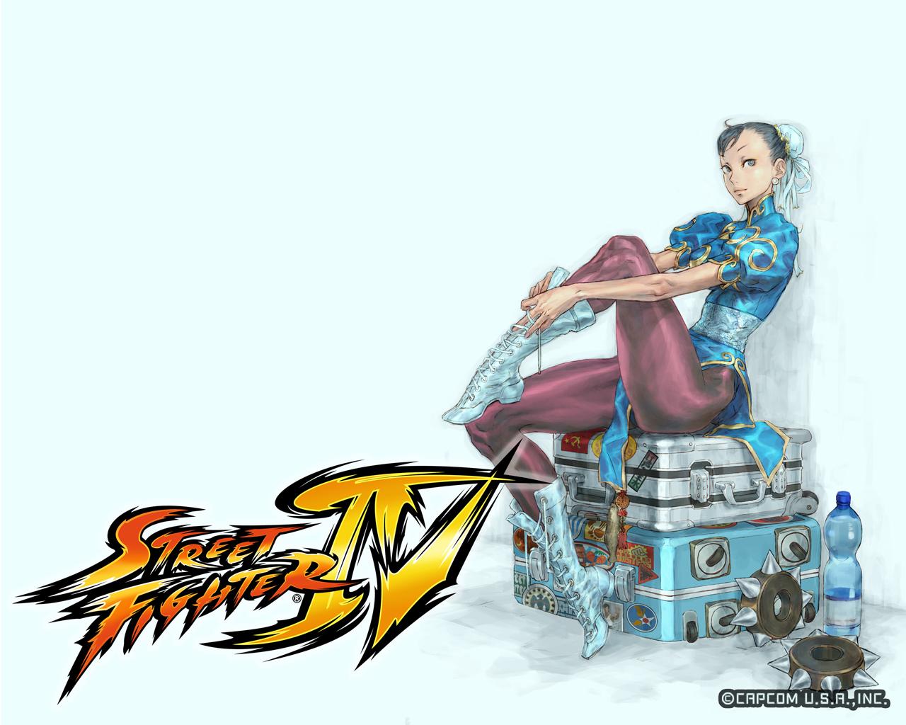 Обои Street Fighter На чемоданах