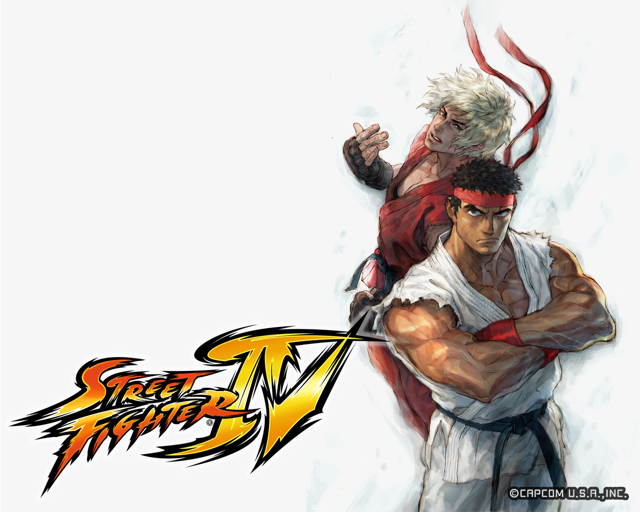 Обои Street Fighter IV Два бойца