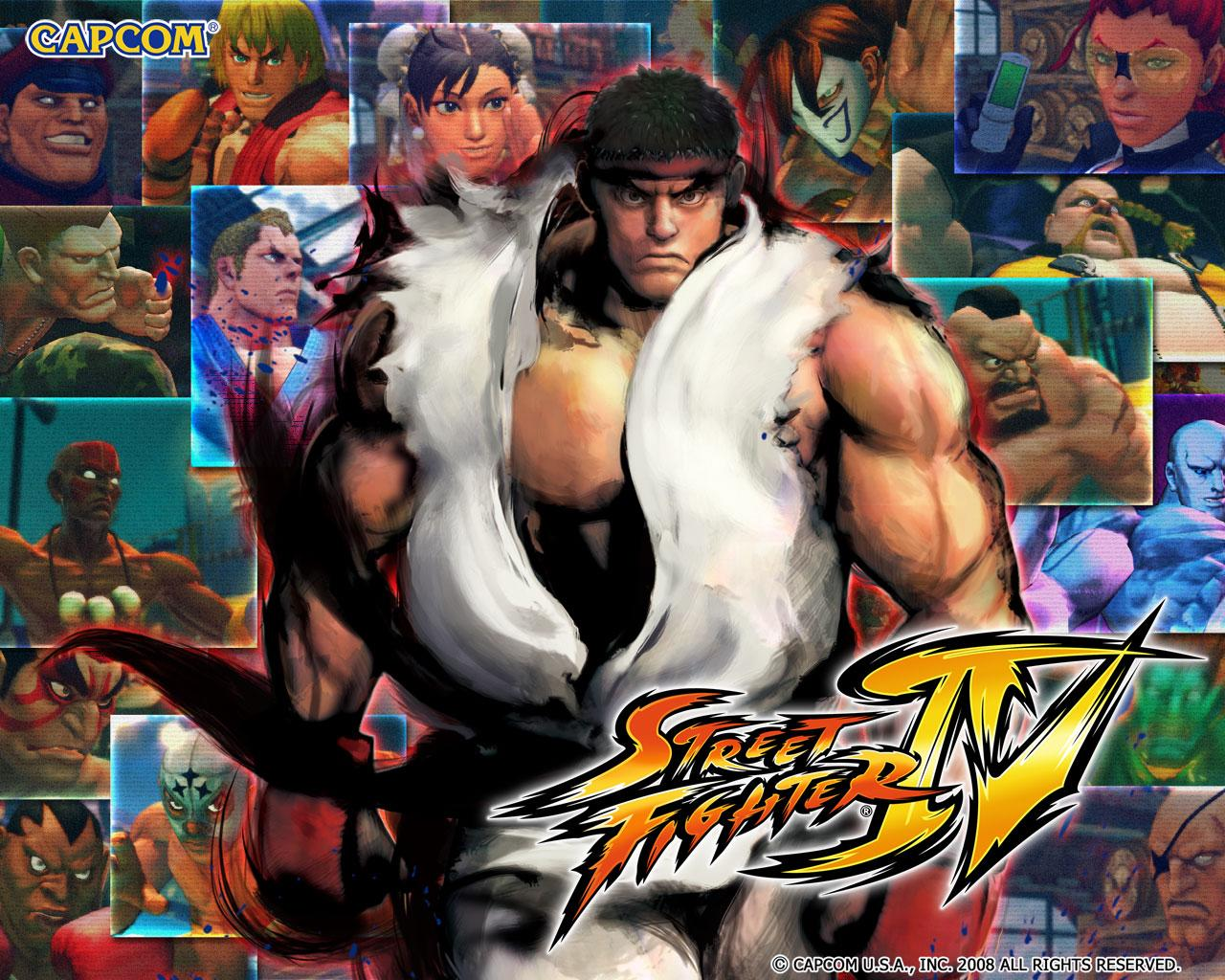 Обои Street Fighter IV таблица бойцов