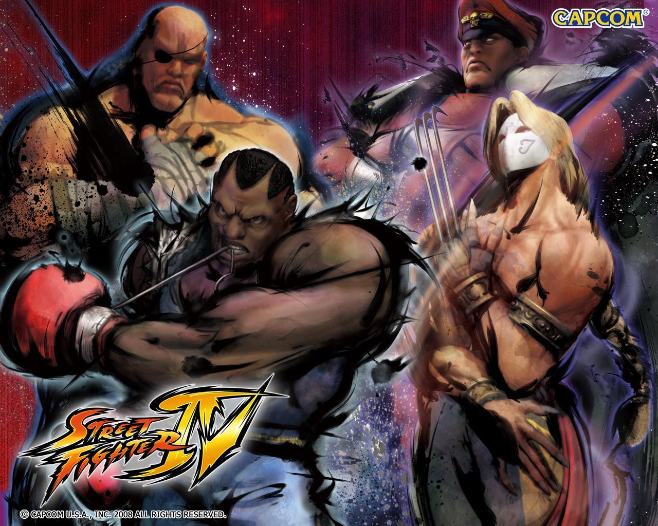 Обои Street Fighter IV Компания