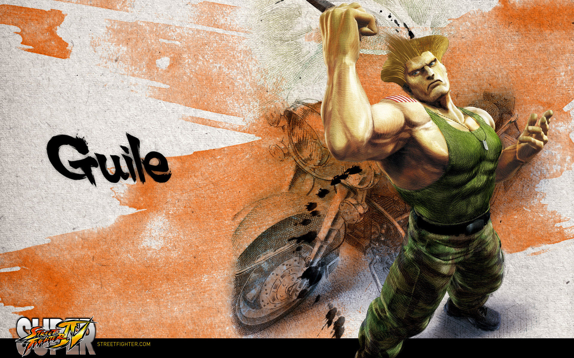 Обои Street Fighter IV Guile