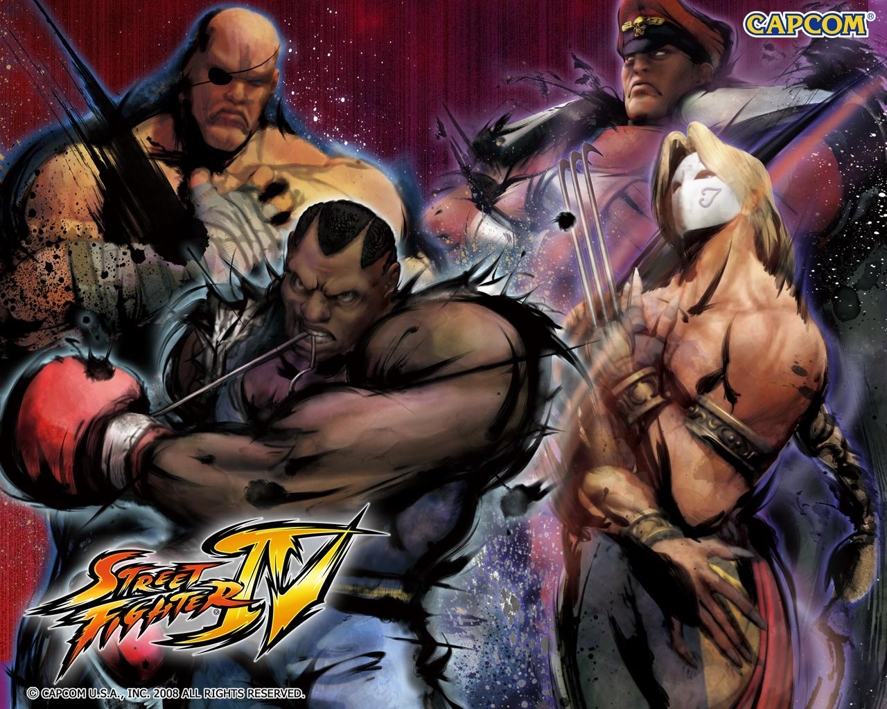 Обои Street Fighter IV Компания